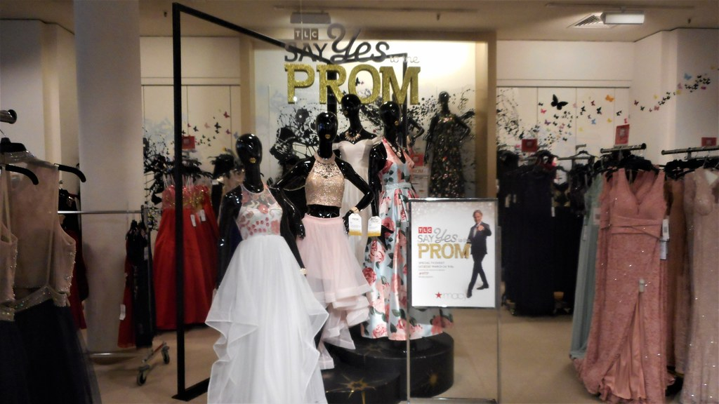 c3b08ed5690bc ... Cute shop display with TLC Say Yes to Prom Dress at Macy's Southcenter  in Tukwila,