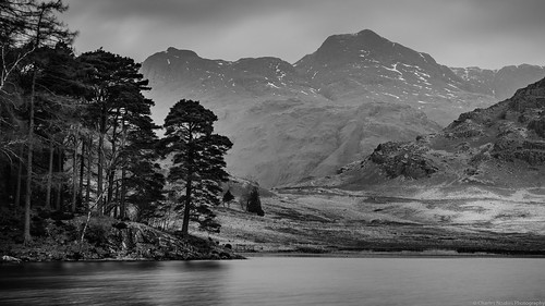 The Langdale Pikes from Blea Tarn