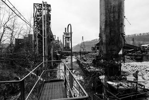 weirton westvirginia unitedstates us steelmill blackandwhite rustbelt