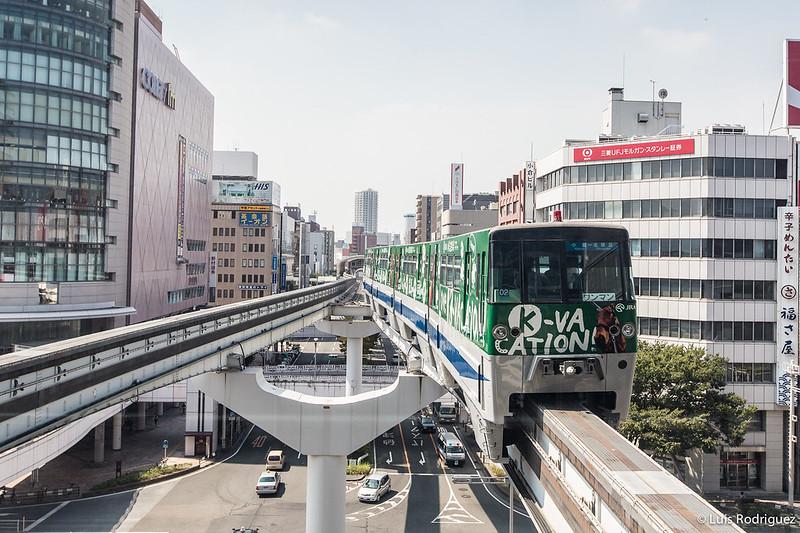 Monorraíl de Kitakyushu en Kokura