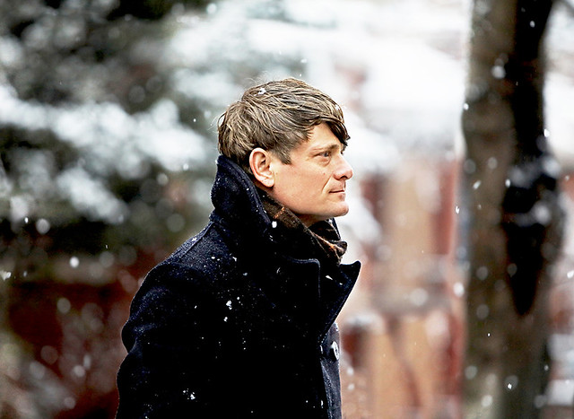 John Dwyer (Thee Oh Sees) amidst freshly falling snow