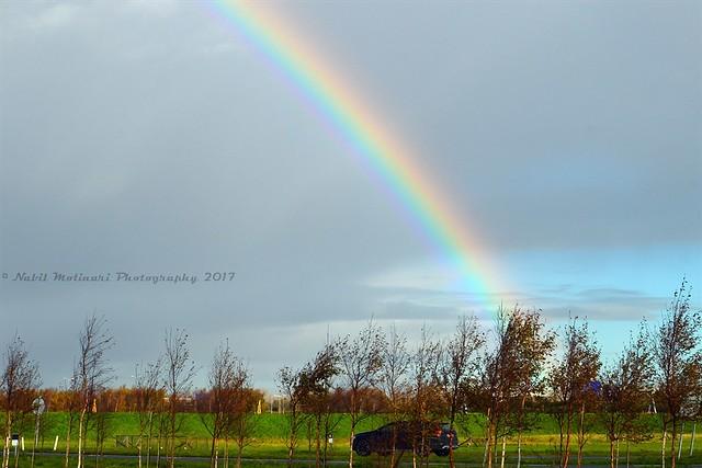 Paysage : Rainbow at Loevesteinse Randweg, Schiphol