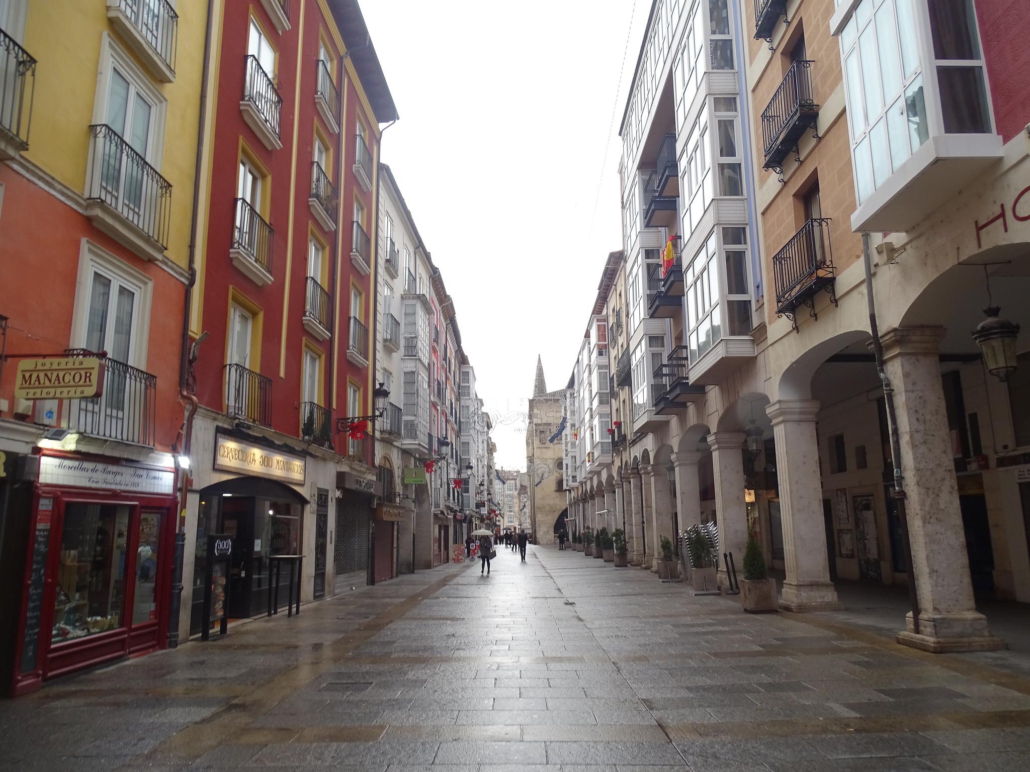 Burgos calle de la virgen de la Paloma