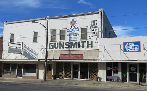guns law downtown ozona texas smalltown