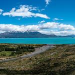 Lago General Carrera, road to Chile Chico, panorama