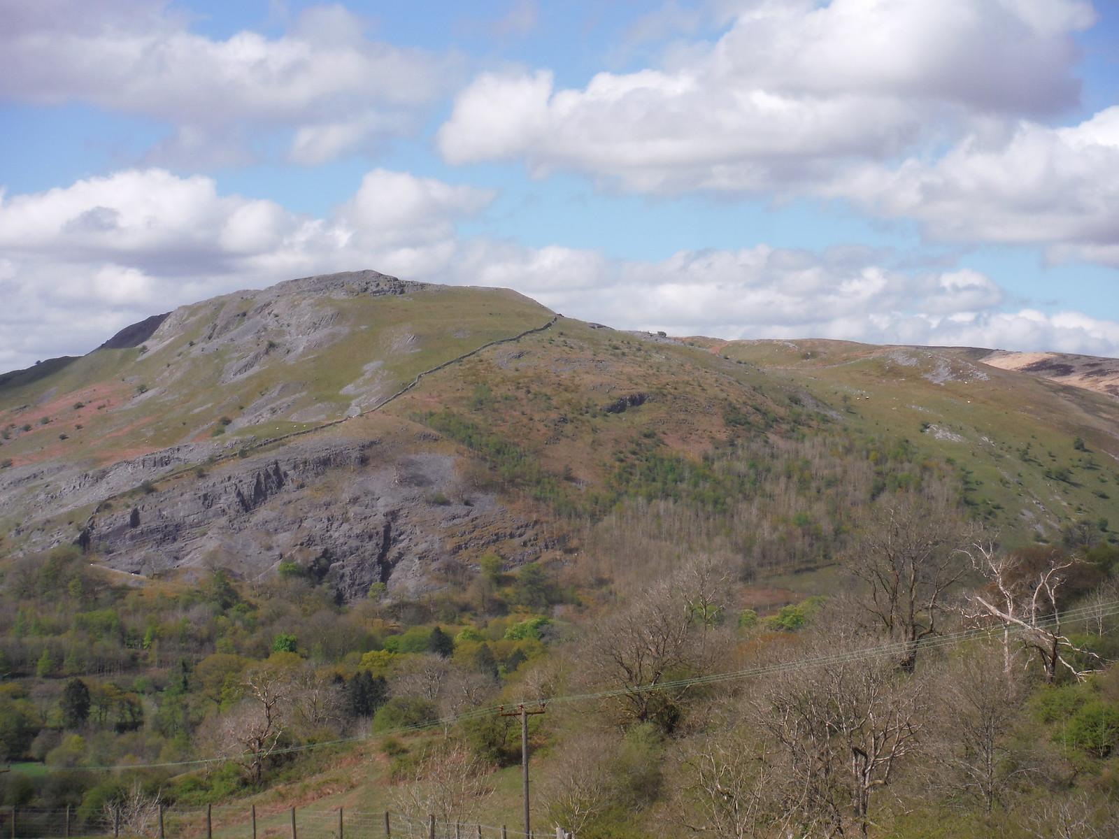 Cribarth from Allt Rhongyr SWC Walk 307 - Fforest Fawr Traverse (Craig y Nos to Llwyn-y-celyn)