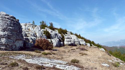 zelengrad stones rocks dalmatia shrub croatia landscape nature sky grass undergrowth clouds mountain wallpaper backgrounds