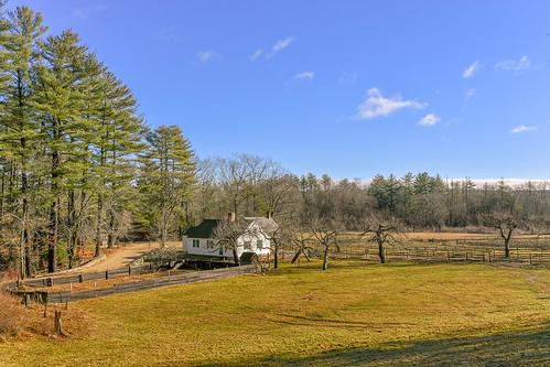 farm landscape osv land field agriculture trees fences house blue sky winter pastoral davelawler chancyrendezvous blurgasm lawler