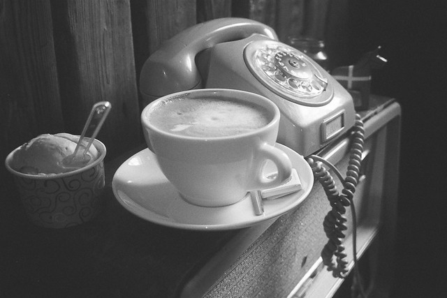 Retro coffee shop