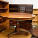 Large circular table mahogany E300