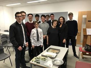 Zahava Kohn and Hephzibah Rudofsky speaking at St Paul's School for Boys. November 2017 | by Surviving The Holocaust