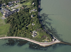 Beacon Hill Fort in Harwich - uk aerial