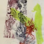 Linol-Holzschnitt -Collage4 30x50