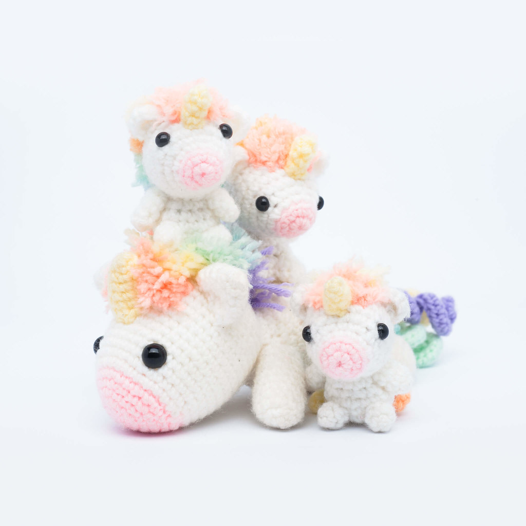 Ravelry: Tiny unicorn amigurumi pattern by Ahooka Migurumi | 1024x1024