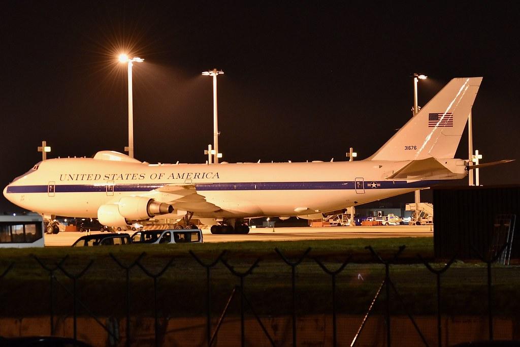 Boeing 747 200 E4b Doomsday Plane 31676 Usaf Taken At Br Flickr