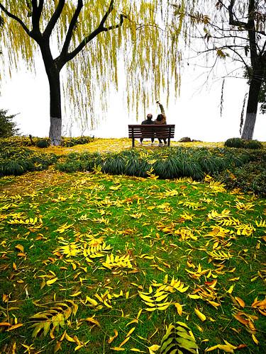 westlake 西湖 hangzhou china 杭州 people willow tree water lake chanmelmel mel melinda melindachan seat sit chair sudi