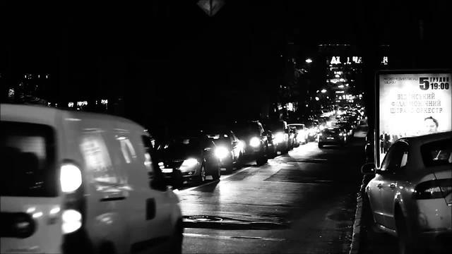 Black and White Kiev Street
