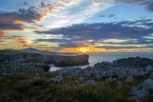 horizonoverwater coast sunrise seascape horizon headland shoreline shore sunset rockycoastline dramaticsky llames asturias nikon d3100 guadamia nwn