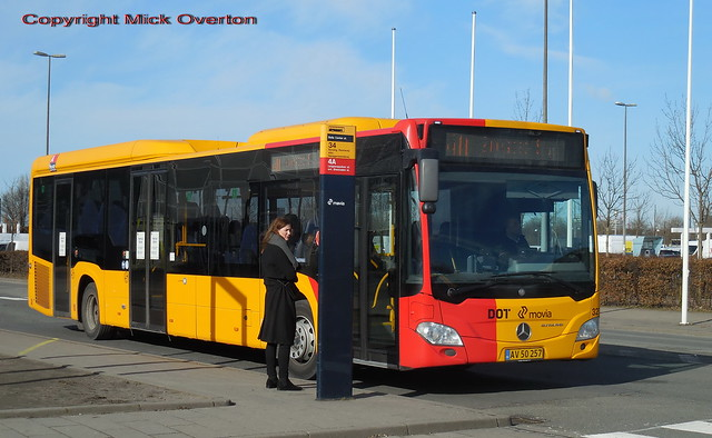 Good looking woman decides to wait for the next bus not Anchersens Mercedes Citaro 3271 on route 4A