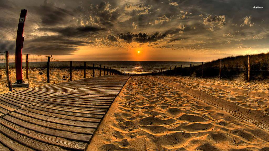 Beach Sunset Hq Desktop Wallpaper Wwwwallpaperbacknetna