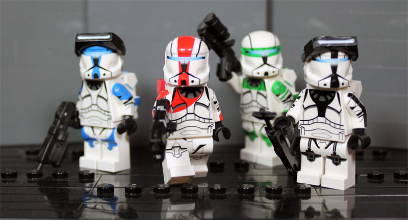 Lego COMMANDO SARGE Clone Minifigure Custom Full Body Printing CAC