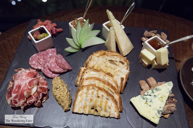 Large charcuterie and cheese platter