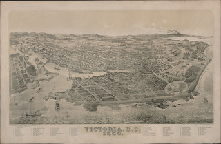 Bird's-eye view of Victoria, British Columbia, 1889 / Vue à vol d'oiseau de Victoria (Colombie-Britannique), 1889