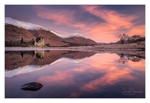 castle kilchurn lochawe argyle landscape scotland dawn sunrise