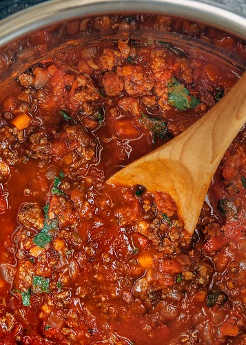 Bolognese Sauce, ready to pressure cook | by Striped Spatula