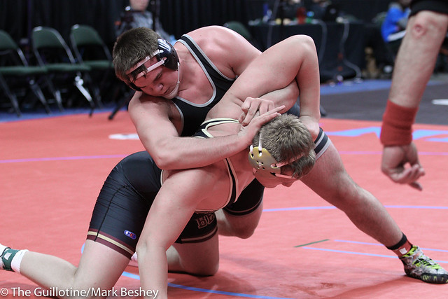 285A Semifinal - Craig Orlando (Bertha-Hewitt-Verndale-Parkers Prairie) 42-3 won by decision over Trevor Oppedal (Blue Earth Area) 34-6 (Dec 4-0) - 180303amk0109