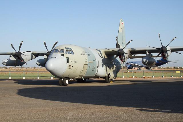 KAF327 C-130J Hercules Kuwait AF