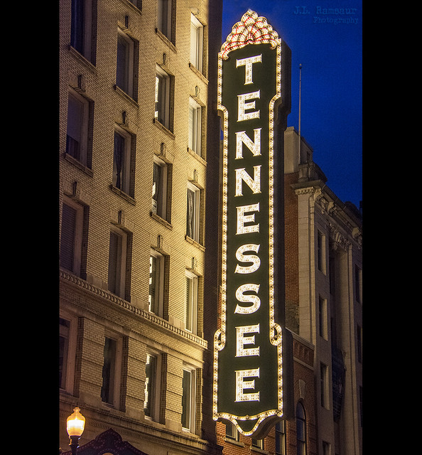 Tennessee Theatre sign - Knoxville, Tennessee