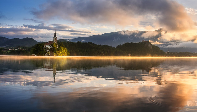 Lake Bled on a summer morning