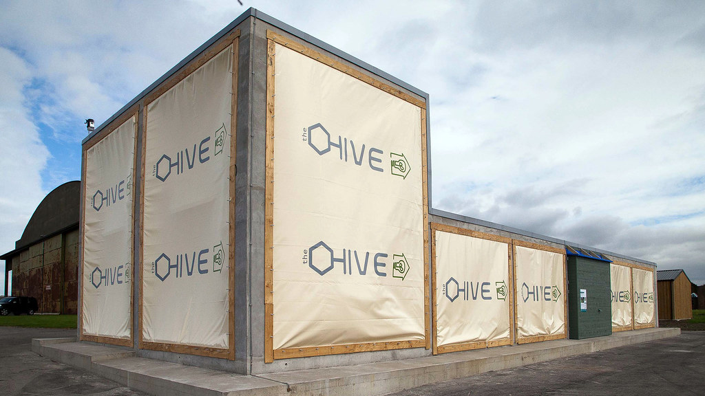 The outside of the HIVE test modules.