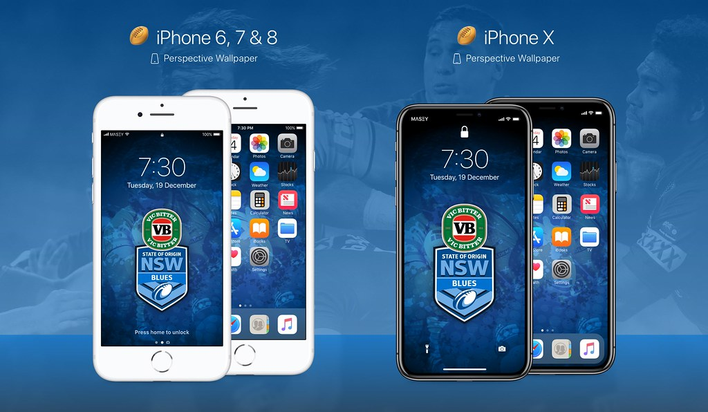 NSW Blues iPhone Wallpaper