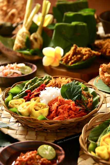 A Balinese Meal A Traditional Balinese Meal Of Rice With V