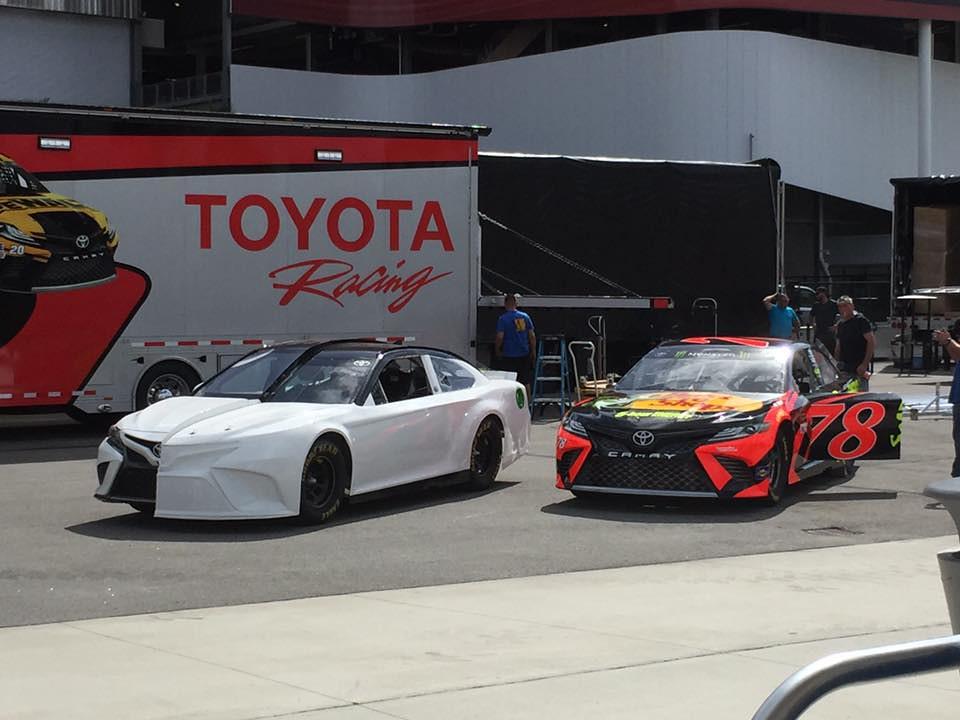 2018 Toyota Camry display car and NASCAR race car | 2018 Toy