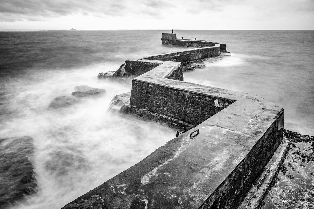 St Monan's Harbour Breakwater, St Monans, Fife (B&W) Fuji … | Flickr