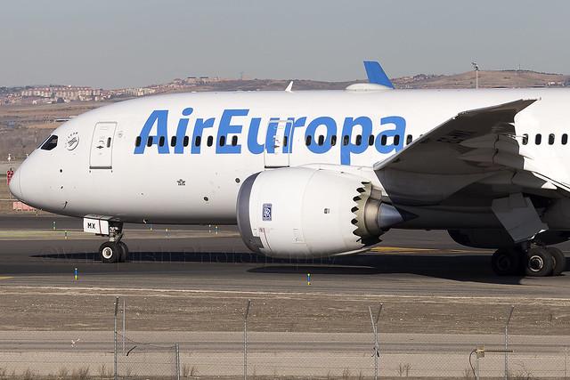 EC-MMX Air Europa B787-8 Dreamliner Madrid Barajas Airport