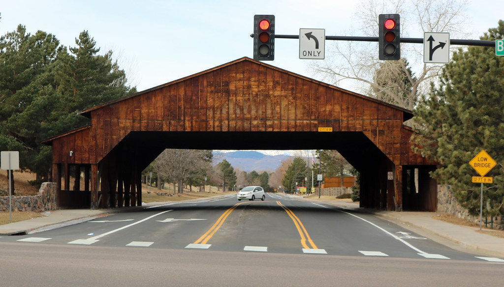 Covered bridge in Littleton, Colorado