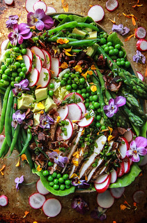 Spring Cobb Salad from HeatherChristo.com | by Heather Christo