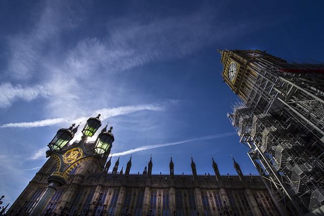 Big Ben under construction - London City - England
