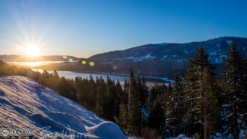 california norcal nevadacounty truckee donnerlake sunrise commute i80 forest snow lake