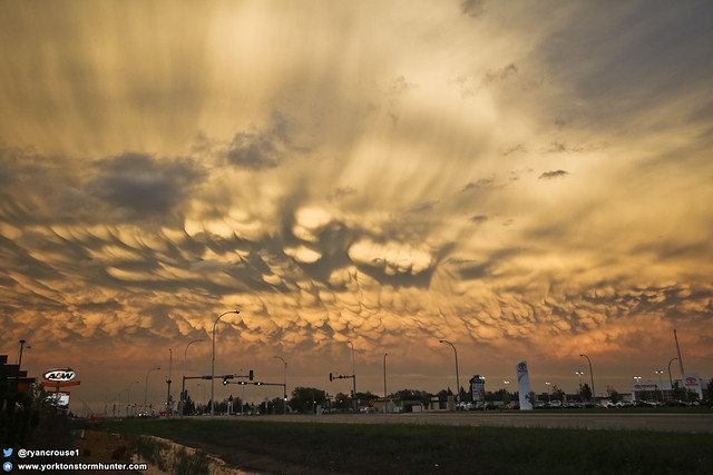 Mammatus Cloud Madness over Yorkton Sk