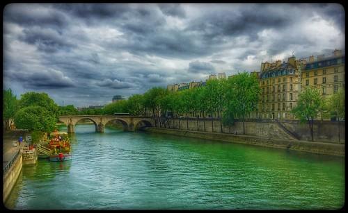 bridge river seine parisfrance paris france