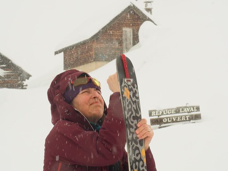 Laval hut -  Even when the weather is poor, there's plenty of good tree skiing in the Val Clarée