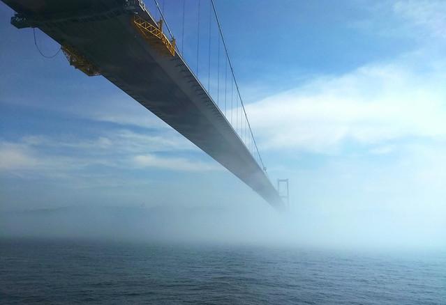 bosporus bridge (a foggy day)