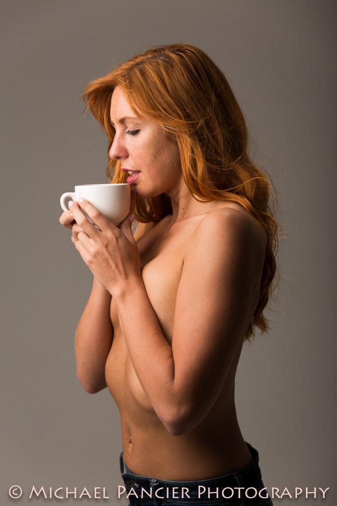 Lori Enjoying Some Hot Coffee | Model: Lori Hoff | Michael