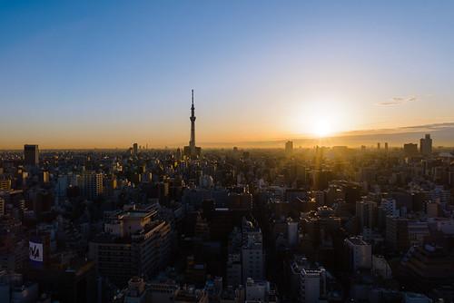 asia japan tokyo ueno skytree skytower sunrise nikon d800 sigma24mmart cityscape landscape morning hotellifetree