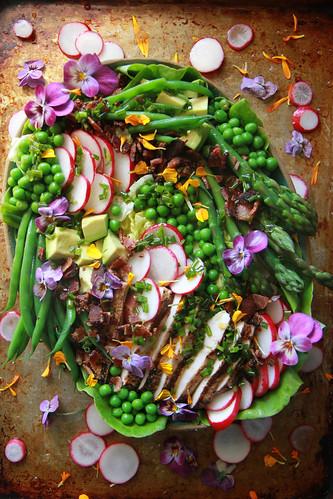 Spring Cobb Salad from HeatherChristo.com | by Heather Christo
